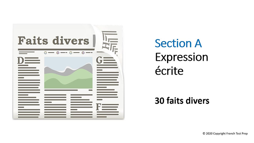 TEF Writing - Section A - 30 faits divers