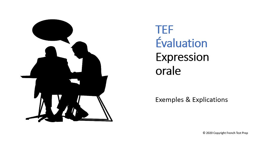 ​TEF Speaking - Free language assessment video
