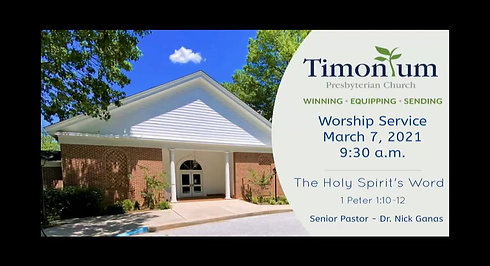 March 7th Worship Service