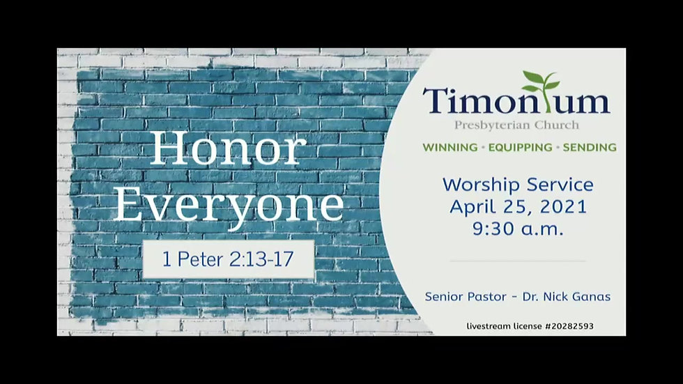 April 25 Worship Service