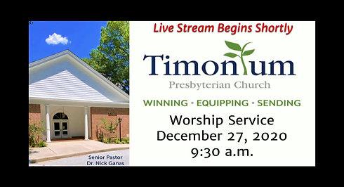 Dec 27 Worship Service