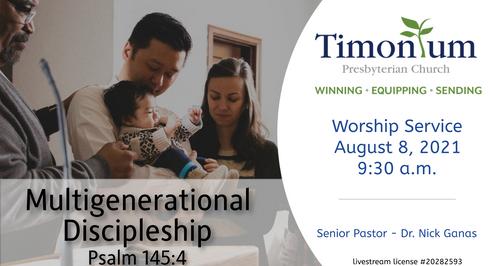 August 8 Worship Service