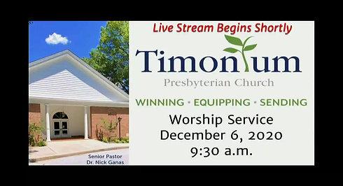 December 6 Worship Service
