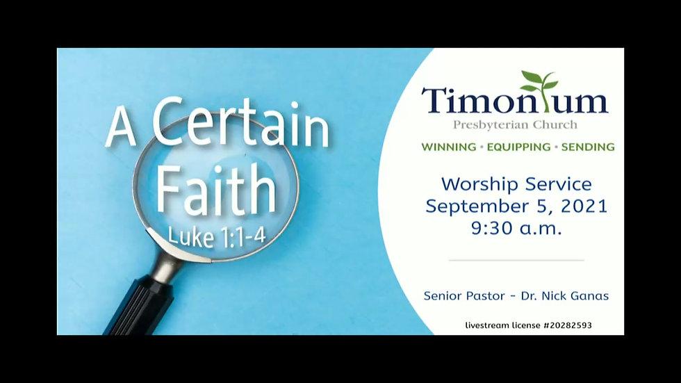 Worship Service 9/5