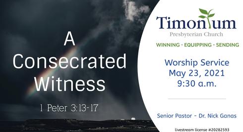 May 23 Worship Service