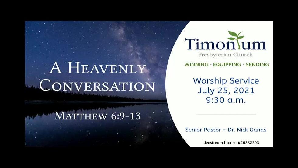 July 25 Worship Service