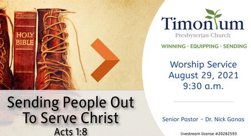 August 29 Worship Service