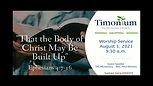 August 1 Worship Service