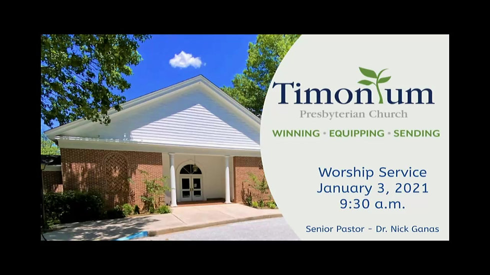 January 3 Worship