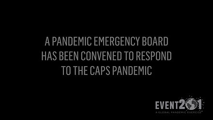 Event 201 Pandemic Exercise