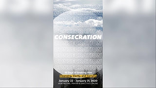 January 2020 Consecration