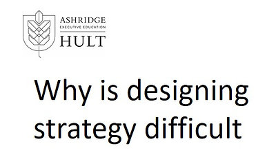 2c. Why is designing strategy difficult