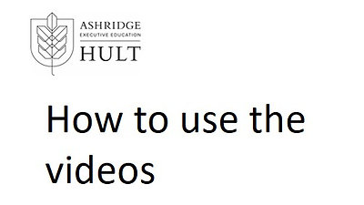 2g. How to use the videos on tools and frameworks
