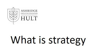 2a. What is Strategy