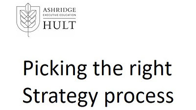 4.a. Picking the right strategy process