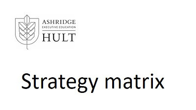 3.c.ii. Strategy matrix