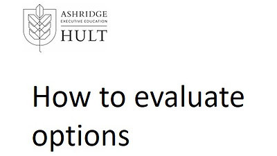 3.e.i. How to evaluate options