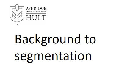 3.i.1. A background to segmentation