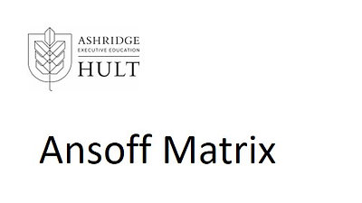 3.d.ii. The Ansoff matrix