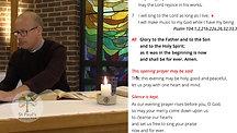 Monday 29th June - Evening Prayer