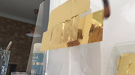 Glass gilding gold leaf
