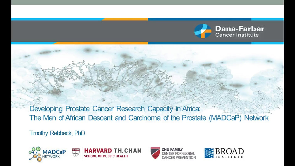 Developing Prostate Cancer Research Capacity in Africa