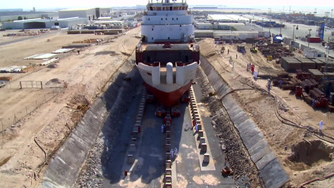 E Marine Ship Moving
