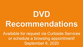 DVD Recommendations, 9/6/2020