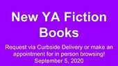 New YA Fiction Books, 9/5/2020