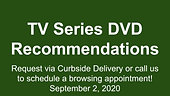 TV Series DVD Recommendations, 9/2/2020
