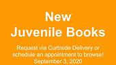 New Juvenile Books, 9/3/2020