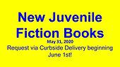 New Juvenile Fiction Books, 5/31/2020