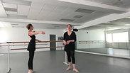 Jeanette Bratcher's ballet barre