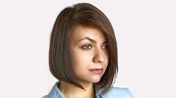 Женская стрижка на среднюю длину волос чирков
