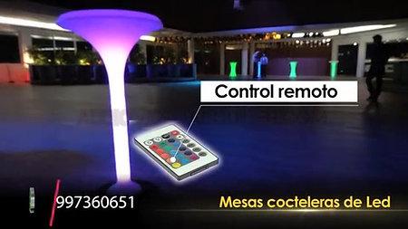 MESAS COCTELERAS LED