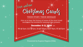 LIVE: Christmas Carols - Their History and Message