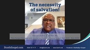 The Necessity of Salvation - Simeon Dudley, NZ