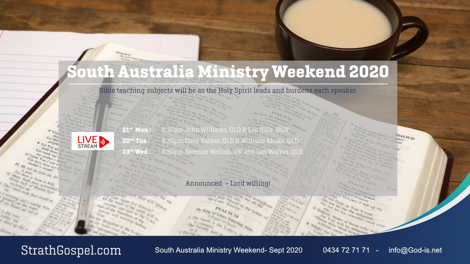 South Australia Ministry Weekend 2020