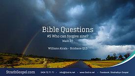 Bible Questions 5 - Willians Alcala