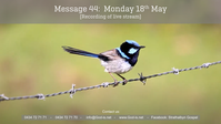 44: Gospel Message - Mon 18th May