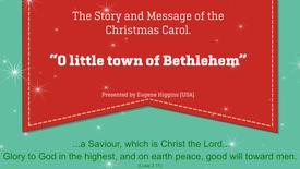 Tue - O little town of Bethlehem