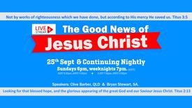LIVE Streaming - Gospel of the Grace of God