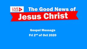 Gospel Message 2 Oct  - Himself for us