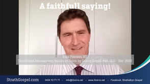 A Faithful Saying -  Ross Person, NZ