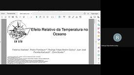 Efeito relativo da temperatura no oceano