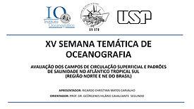 Avaliação dos campos de circulação superficial e padrões de salinidade no Atlântico Tropical Sul (Região Norte e NE do Brasil)