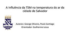 A influência da TSM na temperatura do ar da cidade de Salvador