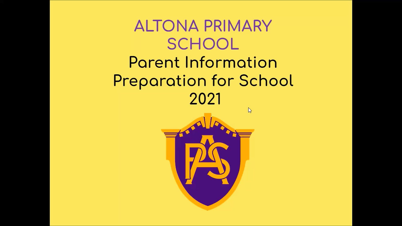2021 Prep Parent Information Session