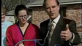 Ruthie Preamck and Mayor Wolff, TV news conference, recycling