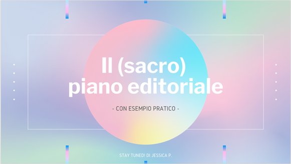 Il (sacro piano) editoriale